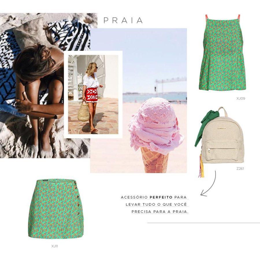 looks para viajar para a praia