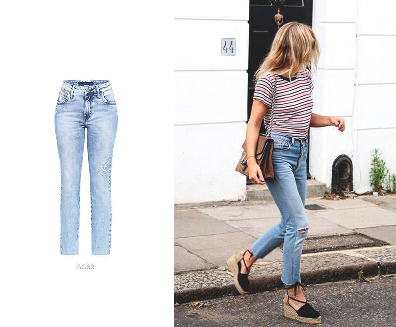 calça jeans damyller look feminino