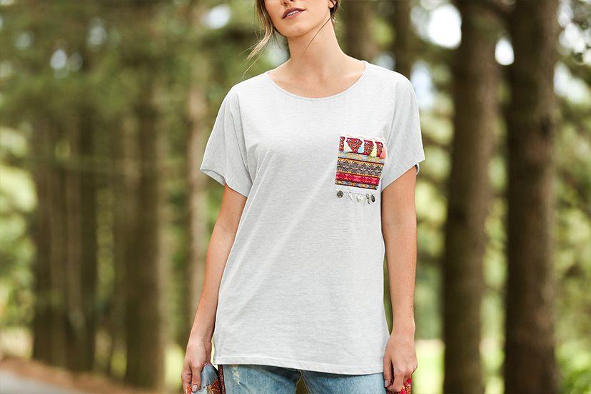 camiseta feminina boho