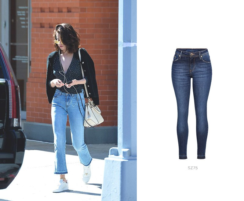 jeans cropped selena gomez