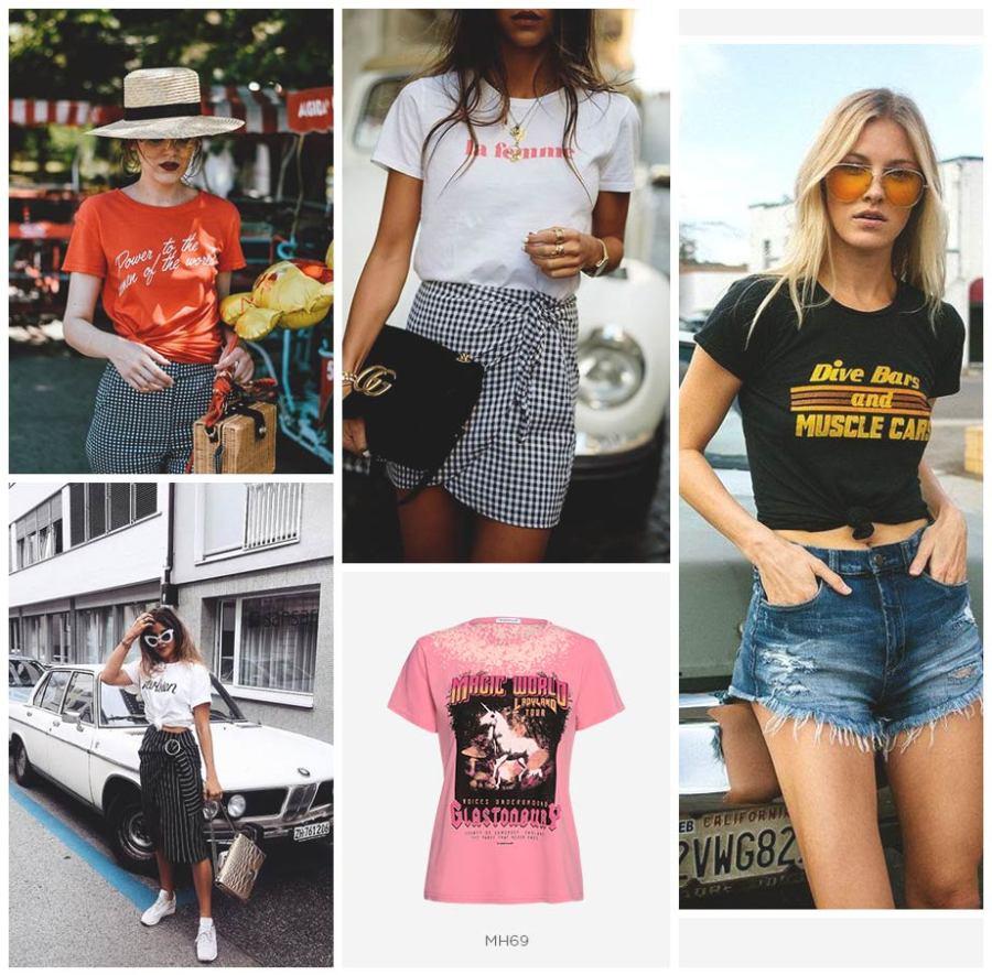 looks de verão com t-shirt feminina