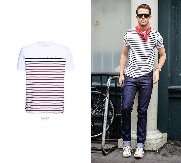 camisetas listradas masculina