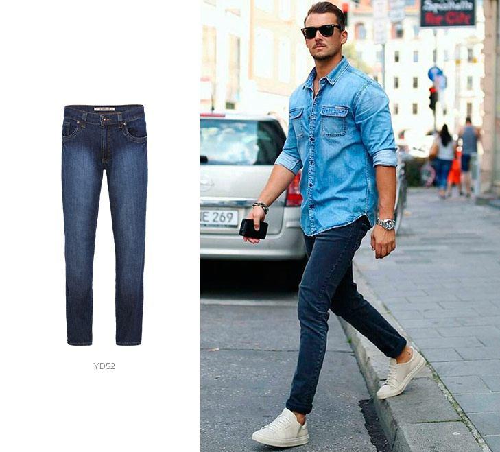 Calça jeans slim masculina