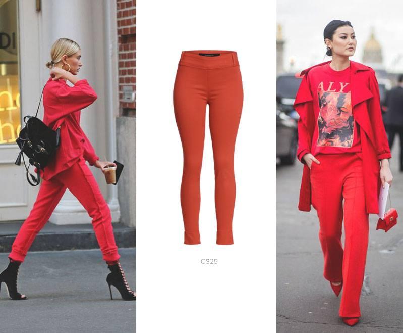 calça vermelha damyller