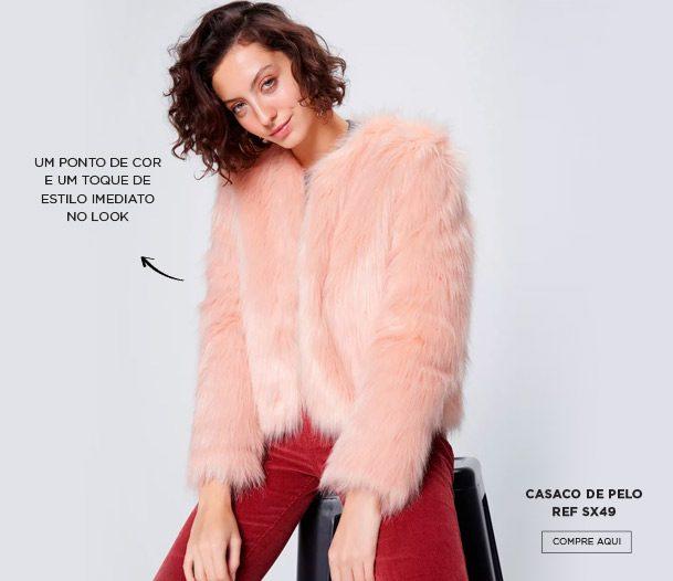 casaco de pelo fake