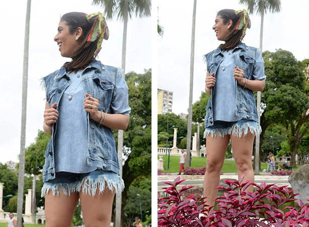 Look para o verão com short jeans