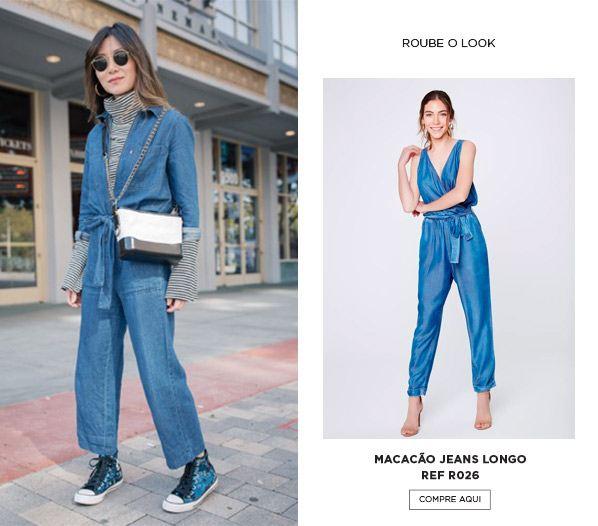 Looks com macacão Jeans