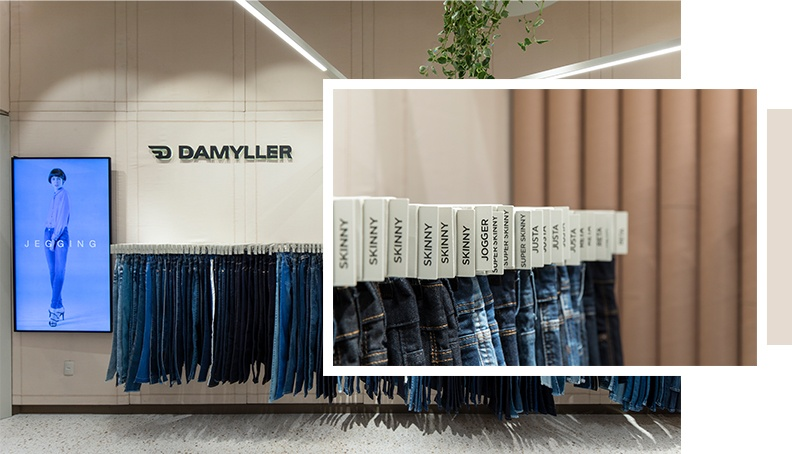 Guia Jeans na loja Damyller