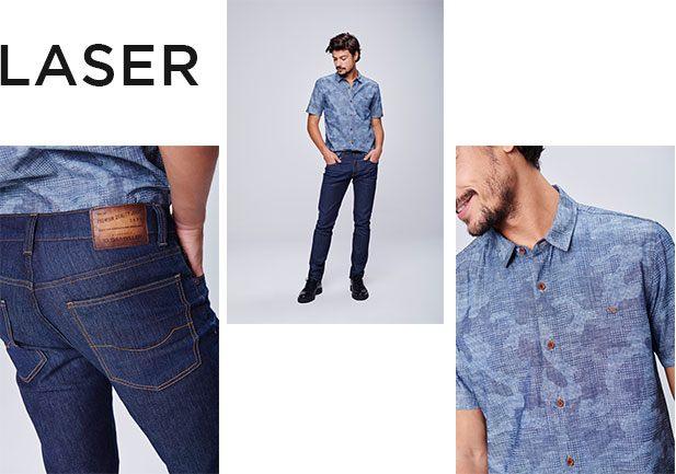 Jeans com beneficiamento do laser