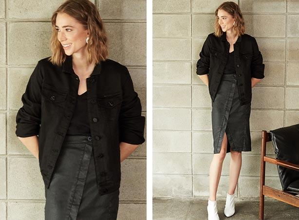 Look monocromático all black