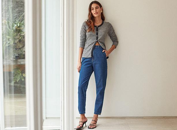 Calça jeans chino