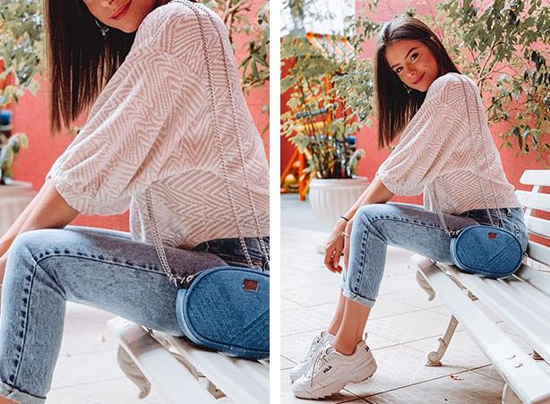 Calça mom com blusa de tricot