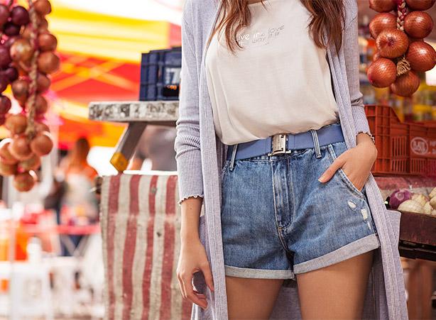 Short de cintura alta