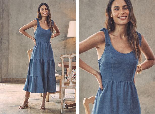 Breezy dress na moda verão 2021