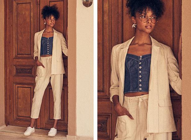 Look com linho - moda verão 2021