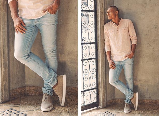Look com calça jeans masculina e bata