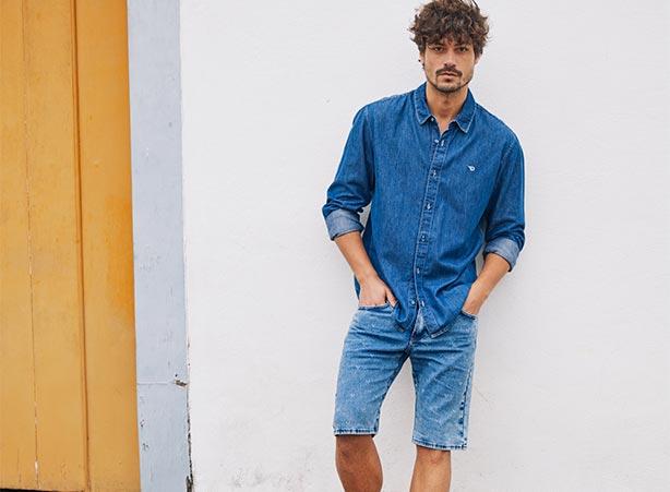 Looks casuais masculinos todo em jeans
