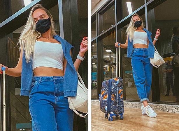 Moletom jeans com calça jeans