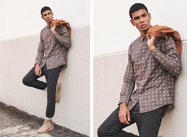 Camisa social com calça jeans masculina