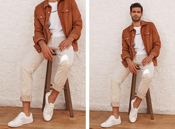Look masculino com calça clara para entrevista de emprego