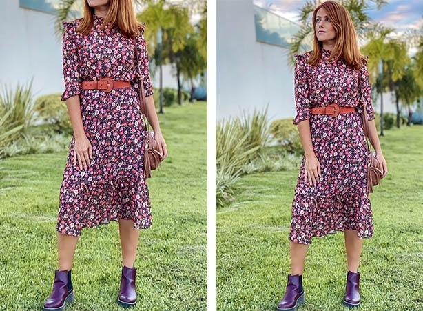 Breezy dress em estampa floral