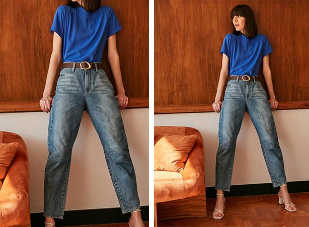 Cintos femininos com calça jeans