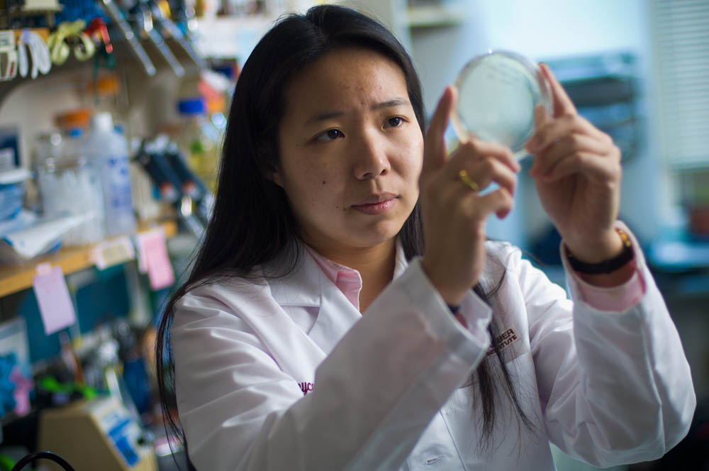 Joyce Liu, MD, in her lab