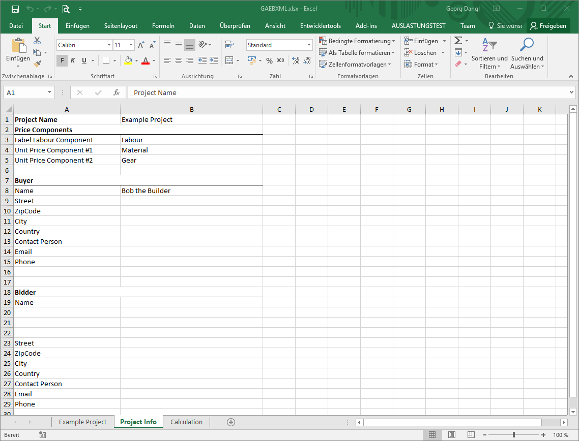 Tutorial Work With Gaeb Converted Excel Files