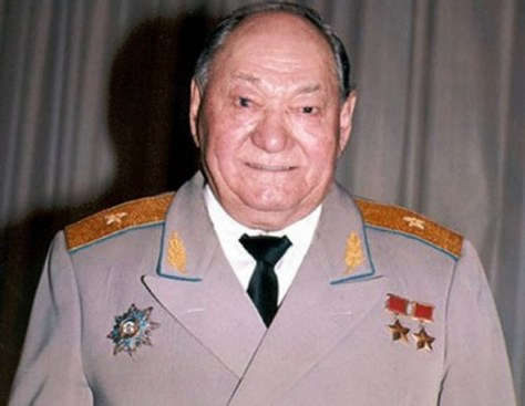 Two-times Hero of the Soviet Union Talgat Bigeldinov.