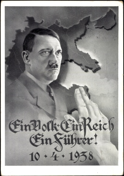 Adolph Hitler pictured on a Nazi poster.