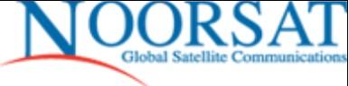 Jordan's telecommunications company Noorsat's logo.