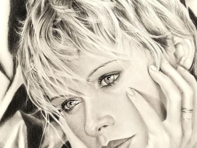 """Dantebus - """"Light blue eyes portrait - F. Rosa2"""