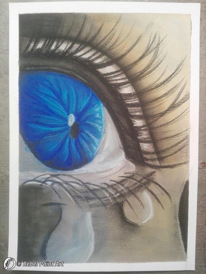 "dantebus - ""Una lacrima sul viso"" Rebel Paint Art"