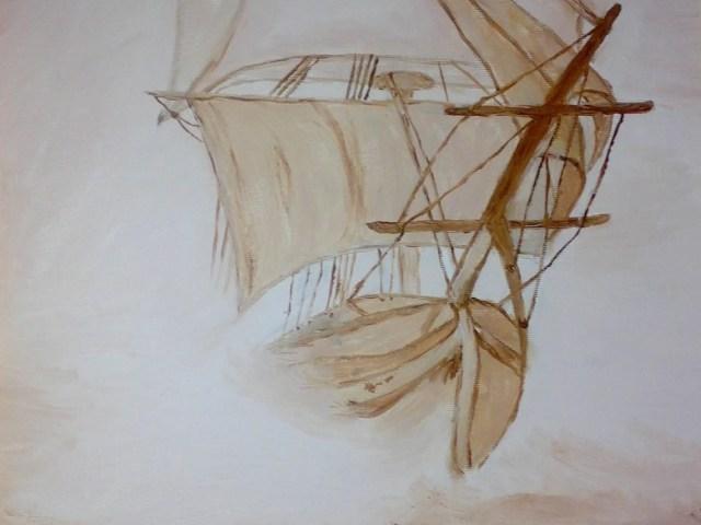 "Dantebus - ""veliero nella nebbia"" Lanfranco Bertelle"