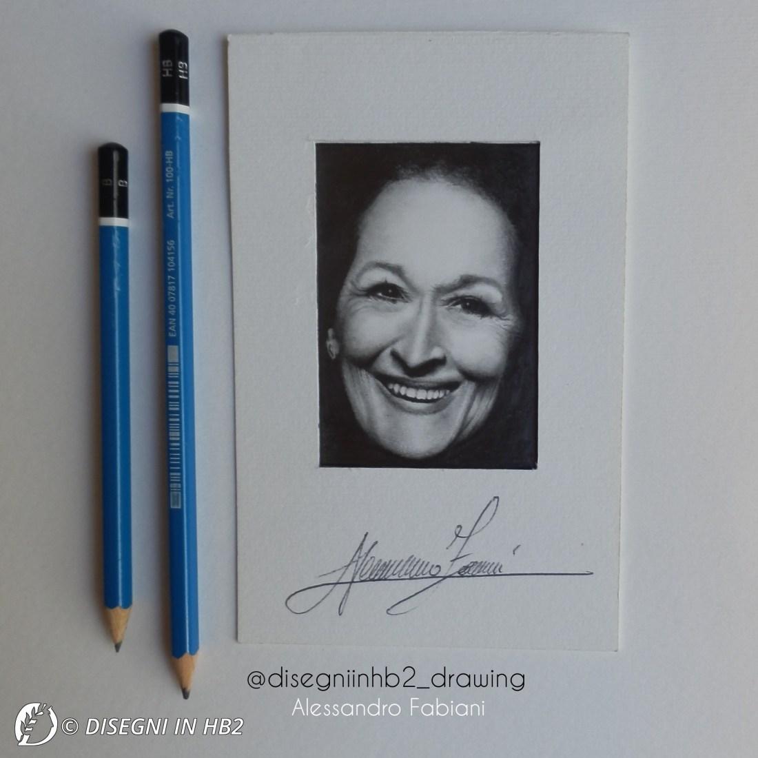 "Dantebus - ""5° DRAWING of Meryl Streep"" Alessandro Fabiani"