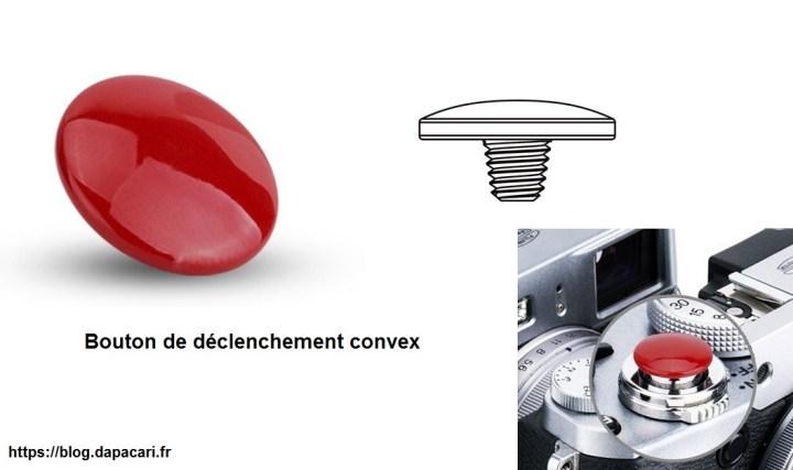 bouton de déclenchement convex