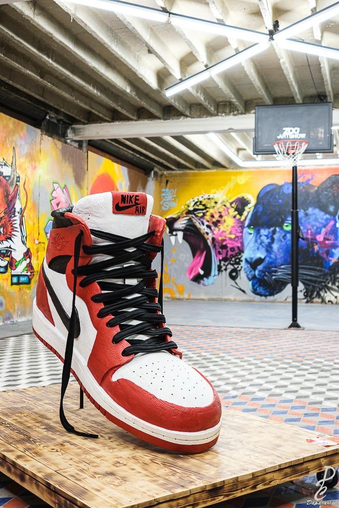 basket nike en bois au zoo art show xxl 2020