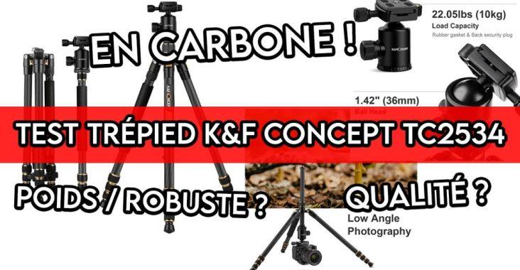 test du trépied en carbone KF CONCEPT TC2534