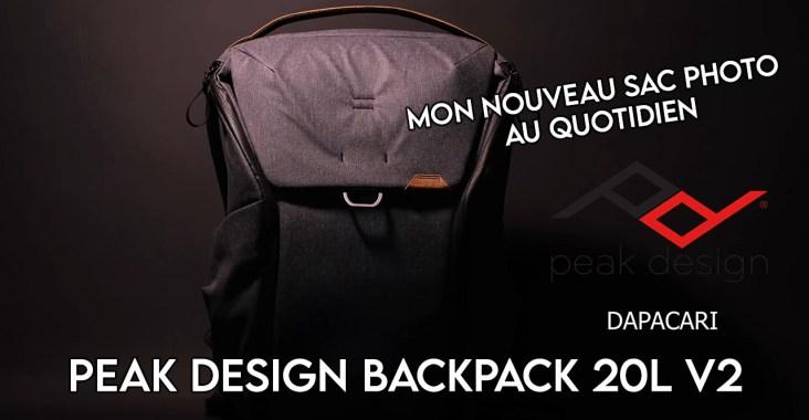 test Peak Design Backpack V2 en français