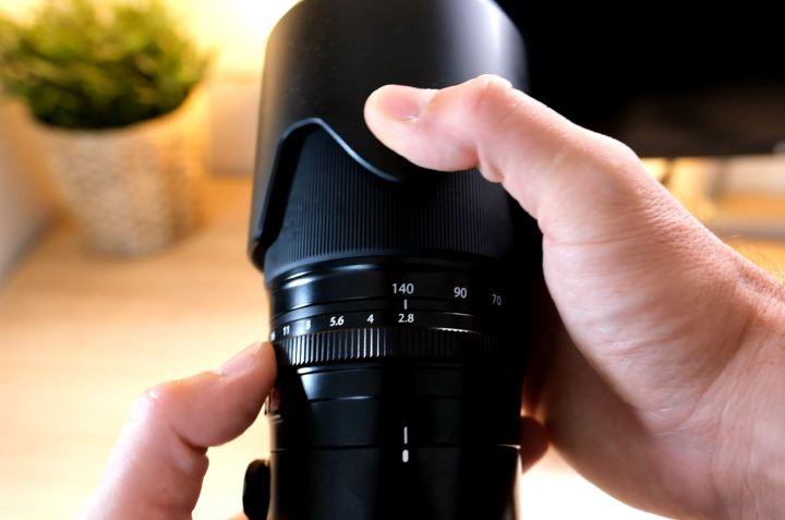 bague de diaphragme de l'objectif 50-140mm vs 55-200mm Fujifilm