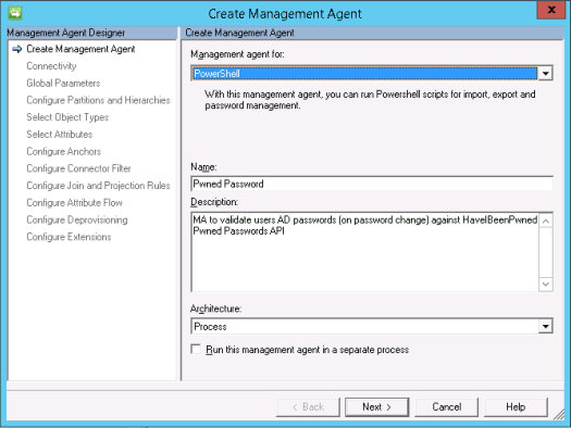 create pwned passwords management agent