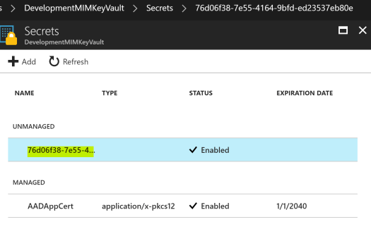 Azure Key Vault Created