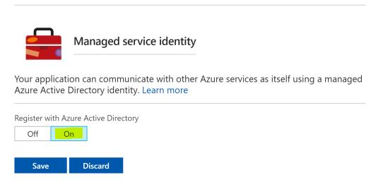 Enable Managed Service Identity