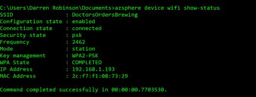 Azure Sphere Wifi Status.PNG