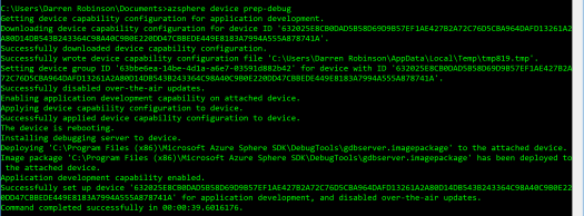 Enable Azure Sphere Debugging.PNG