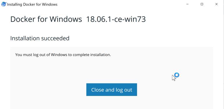 Docker Install Complete.PNG