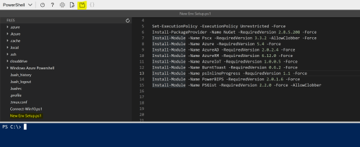 New Env Setup Script