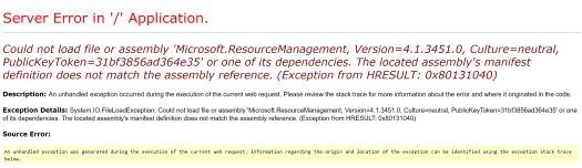 Error finding Microsoft.ResourceManagement DLL.PNG