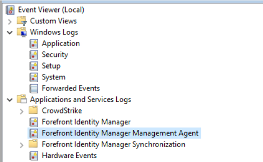 Forfront Identity Manager Management Agent.PNG