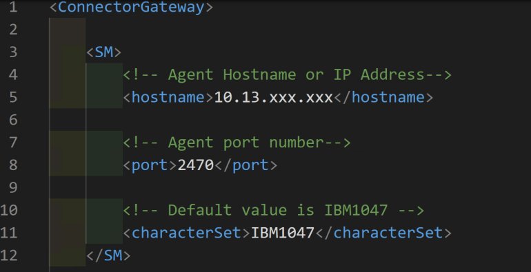 IdentityNow RACF Source Connector Agent init.xml configuration file.PNG